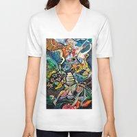 phoenix V-neck T-shirts featuring Phoenix by Dawn Patel Art