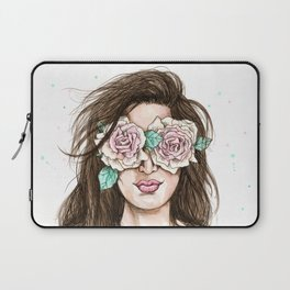 white roses in their eyes (female version) Laptop Sleeve