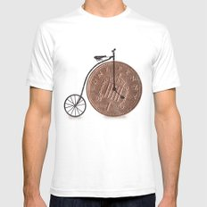 Penny Farthing SMALL Mens Fitted Tee White