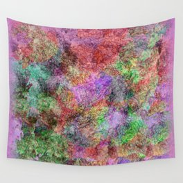 Colorful Abstract Water Color Misty Swirls Design Wall Tapestry