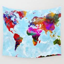World Map - 3 Wall Tapestry