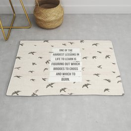 life lessons Rug