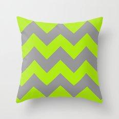 Chevron Lime Throw Pillow
