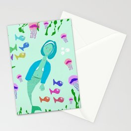 The Girl Under the Sea  Stationery Cards