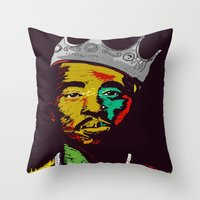 tupac Throw Pillows featuring Tupac's Back by Dazed N Amused