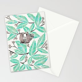 Happy Sloth – Tropical Mint Rainforest Stationery Cards
