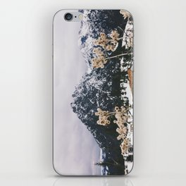 Mountains + Flowers iPhone Skin