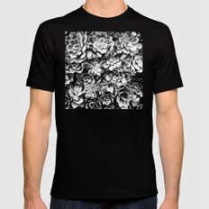 Black And White Plants Mens Fitted Tee Black MEDIUM