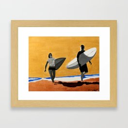 Golden Skies Framed Art Print