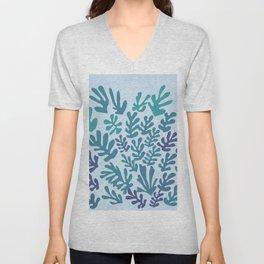 "Collage of Leaves, #4 ""Seaside"" -by Henri Matisse Unisex V-Neck"