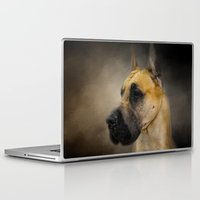 great dane Laptop & iPad Skins featuring Dashing Great Dane by Jai Johnson