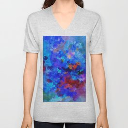 Abstract Seascape Painting Unisex V-Neck