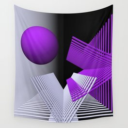 geometry violet -03- Wall Tapestry