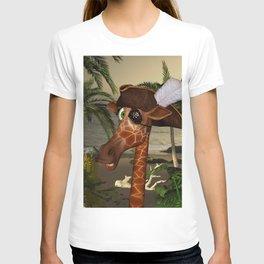 Cute, funny pirate giraffe T-shirt