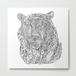 The power of the tiger Metal Print