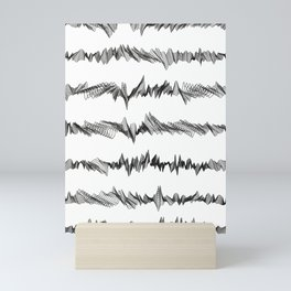 Pattern Collection. Black and White. Pulse. Mini Art Print