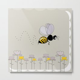 Bee Cute! Metal Print