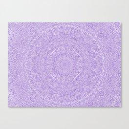 The Most Detailed Intricate Mandala (Violet Purple) Maze Zentangle Hand Drawn Popular Trending Canvas Print