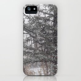 Soft snow falling iPhone Case