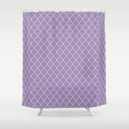 Quatrefoil Kismet Lilac Moroccan Ogee Pattern Shower Curtain