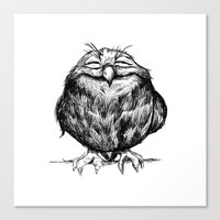 owl Canvas Prints featuring Owl Ball by Dave Mottram