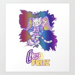 Lisa Fritz the Cat Art Print
