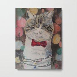 Adam the Christmas Cat Metal Print