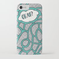 okay iPhone & iPod Cases featuring Okay? by Kelsey Roach