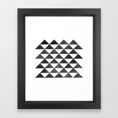 Rows of Triangles Framed Art Print