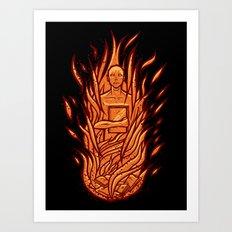 fahrenheit 451 - bradbury red variant Art Print