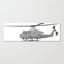 American Grey Attack Helicopter Canvas Print