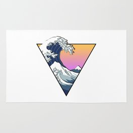 Great Wave Aesthetic Rug