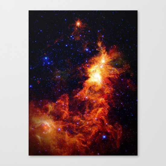 Fiery gAlAXy Indigo Stars Canvas Print