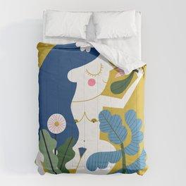 Blue Plant Lady Comforters