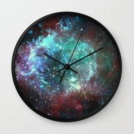 Star field in space Wall Clock