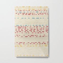 Yarns - Between the lines Metal Print