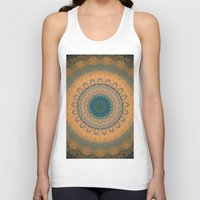 bohemian Tank Tops featuring Bohemian Orange by Jane Lacey Smith