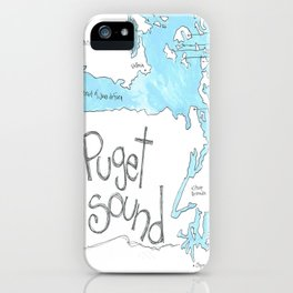 Puget Sound by Seattle Artist Mary Klump iPhone Case