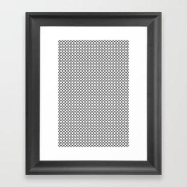 Quatrefoil Black and White Framed Art Print