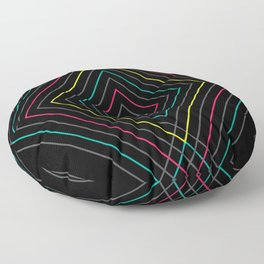 Neon Diamond Pattern Floor Pillow