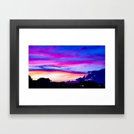 Hampton Sunset Framed Art Print