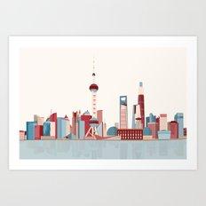 City Shanghai Art Print