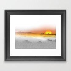 Distant Sunset Framed Art Print