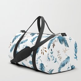 Feathers and dried flowers Duffle Bag