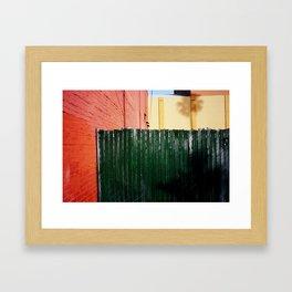 Colored squares Framed Art Print