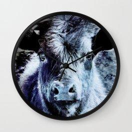 Calf is Blue Wall Clock