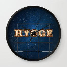 Hygge -  Wall-Art for Hotel-Rooms Wall Clock