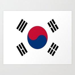 Flag of south korea Art Print