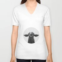 deer V-neck T-shirts featuring The Banyan Deer by Davies Babies