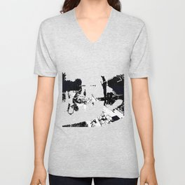 Midnight Over The Mouth Of The Mekong Unisex V-Neck